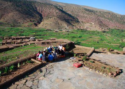 hotel dans la vallée des Ait Bouguemez Maroc